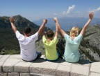 Mauzoleum Niegosza - Park Narodowy Lovćen - platforma widokowa za mauzoleum - stąd widać całą Czarnogórę!