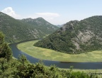 Rijeka Crnojevića - punkt widokowy, który trwa przez kilkanaście kilomentów