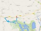 Rijeka Crnojevića - warto przejechać 15 kilometrów boczną drogą widokową, źródło: mapy Google
